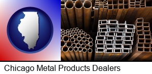 Chicago, Illinois - metal pipes, studs, and tubes for sale