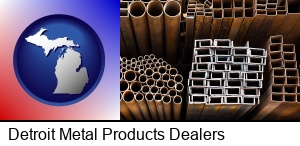 Detroit, Michigan - metal pipes, studs, and tubes for sale